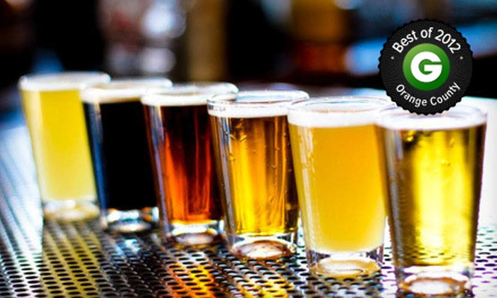 Alcatraz Brewing Company - Orange: Beer Flights for Two with One Appetizer or Two Take-Home Growlers at Alcatraz Brewing Company (Up to 53% Off)