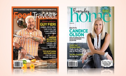 1-Year Subscription to Everyday Home and Food Traveler Magazines