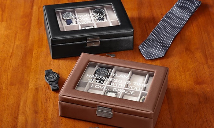 Personalized Watch Box Groupon Goods