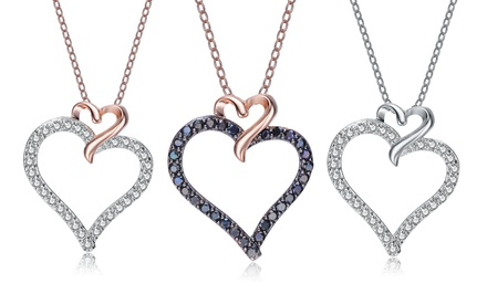 Double-Heart Sterling Silver Necklaces