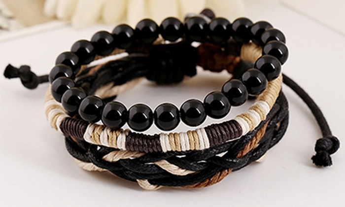 up to 70 off men 39 s fashion bracelets from cabanyco groupon. Black Bedroom Furniture Sets. Home Design Ideas