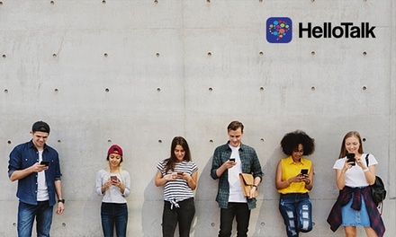 Online und Live Sprachen lernen mit Chat-App für 200 Sprachen von HelloTalk (bis zu 67% sparen*)