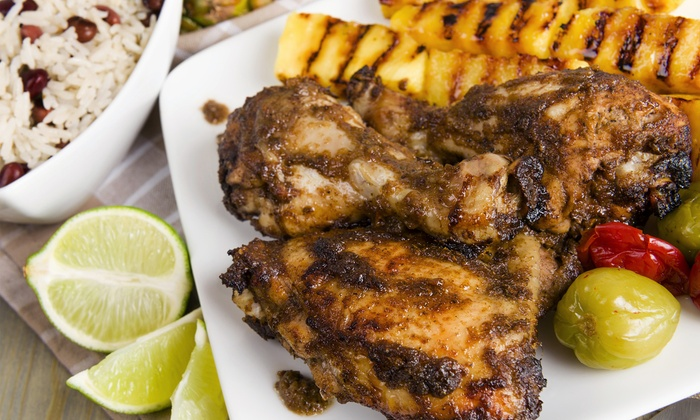 Authentic jamaican cuisine royal caribbean jerk groupon for Authentic jamaican cuisine