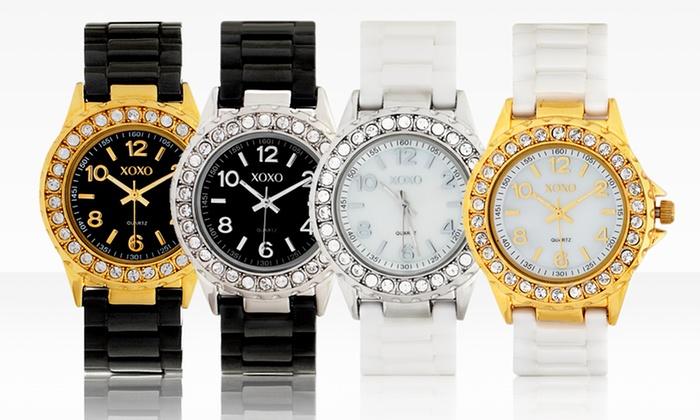 Xoxo women 39 s ceramic watches groupon goods for Watches xoxo