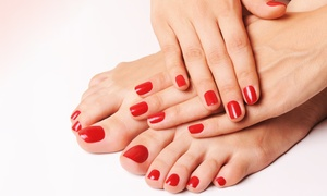 Studio Couture London Inc: One or Three Shellac Mani-Pedis at Studio Couture London Inc (Up to 49% Off)