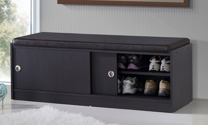 Espresso Foyer Bench : Ashby shoe storage bench groupon goods