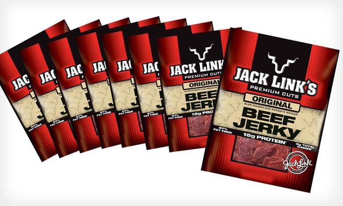 Jack Links Beef Jerky 8-Pack: $35 for an 8-Pack of Jack Links Beef Jerky in Original, Peppered, or Teriyaki ($44.99 List Price). Free Shipping.