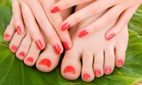 Gel Manicure, Pedicure or Both at You & Me Hair & Beauty Salon‎ (Up to 50% Off)