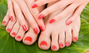 You & Me Hair & Beauty Salon‎: Gel Manicure, Pedicure or Both at You & Me Hair & Beauty Salon‎ (Up to 50% Off)