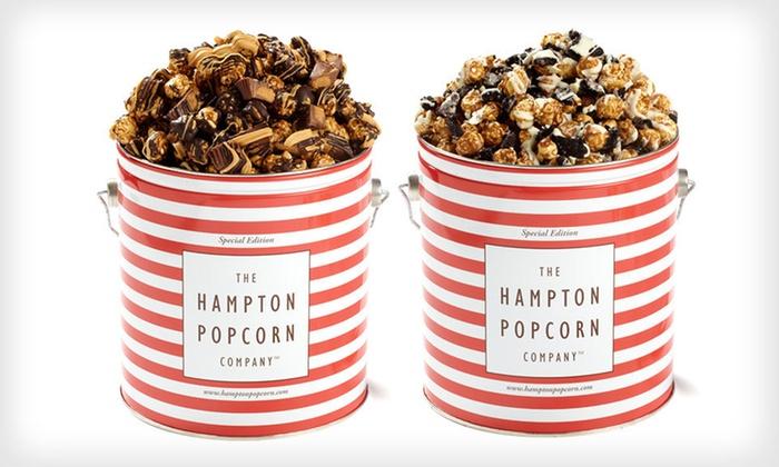 24 for a 1 gallon holiday popcorn tin