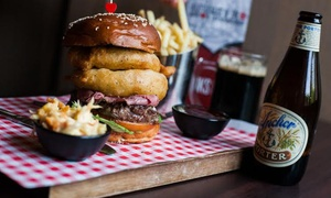 TriBeCa Bar & Grill: Speciality Burgers with Fries and Optional Drinks for Two or Four at TriBeCa Bar & Grill, Glasgow (Up to 57% Off)