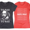 Ladies' Humorous Single and Online Dating Tees