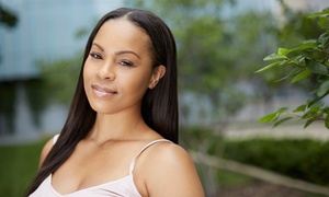 Bee Glam Salon: Brazilian Blowout or Haircut Package with Optional Partial Highlights at Bee glam Salon (Up to 64% Off)