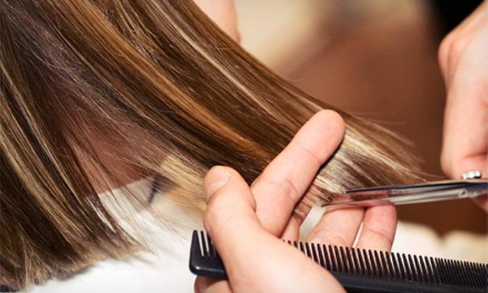 Mandy Cissell at Salon KJ - Saint Louis: Haircut Package from Mandy Cissell at Salon KJ (Up to 63% Off). Three Options Available.
