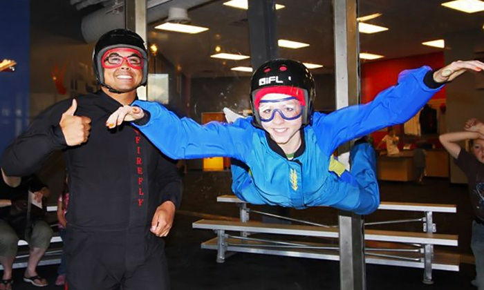 Flowrider, iFly and iRock - Downtown Ogden: $52 for Indoor Skydiving, Surfing, and Rock Climbing at iFly, Flowrider, and iRock ($89 Value)