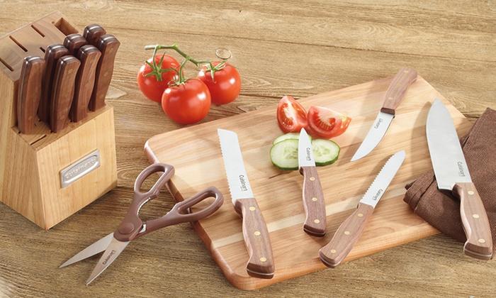 Cuisinart 14-Piece Advantage Forged Walnut Cutlery Set: Cuisinart 14-Piece Advantage Forged Walnut Cutlery Set. Free Returns.