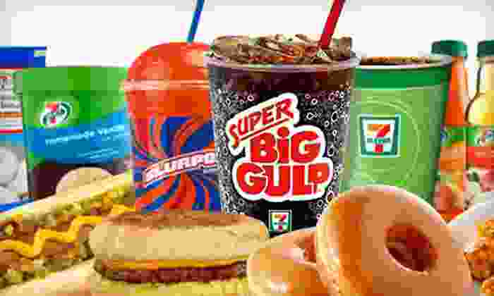 7-Eleven - Multiple Locations: Slurpees, Coffee, Sandwiches, and Prepared Foods at 7-Eleven (Half Off). Three Options Available.