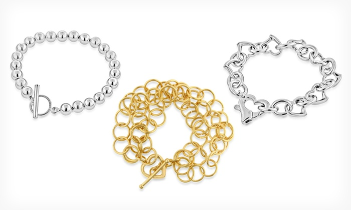 Bracelets and Bangles: Gold- or Platinum-Plated Bracelets and Bangles (Up to 86% Off). 8 Styles Available. Free Shipping and Returns.