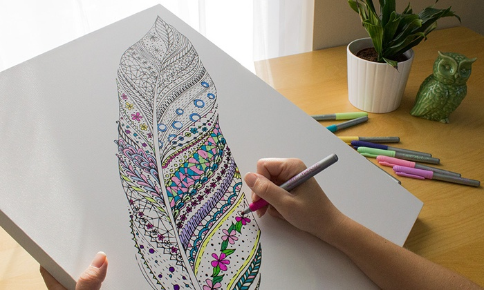 Canvas on Demand: Premium Coloring Canvas Prints from Canvas on Demand (Up to 84% Off).