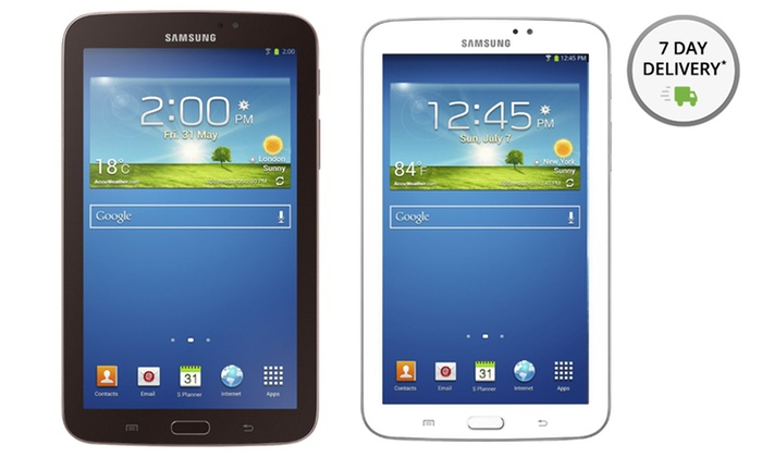 "Samsung Galaxy 7"" Tab 3 8GB: Samsung Galaxy 7"" Tab 3 8GB in Gold/Brown or White (Manufacturer Refurbished). Free Shipping and Returns."