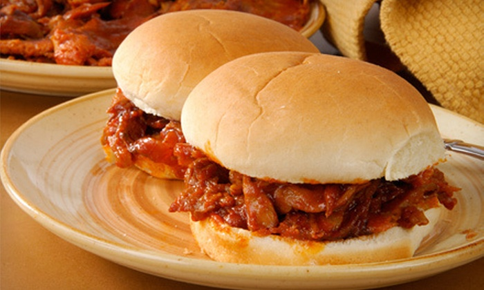 Tony's Bar-B-Que - West Eugene: Barbecue Sandwiches or Dinner Plates for Two at Tony's Bar-B-Que (Up to 53% Off)