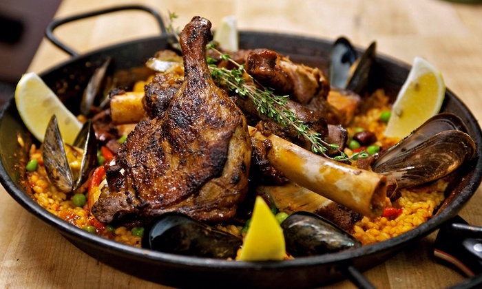 Barraca Paella and Tapas Bar - King William: Spanish Dinner for Two or Four or More, or Brunch for Two or More at Barraca Paella and Tapas Bar (Up to 47% Off)