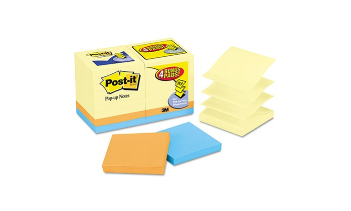 Post-it Pop-up Notes Refills (18-Pack): Post-it Pop-up Notes Refills; 18-Pack of 100ct. Pads. Free Returns.