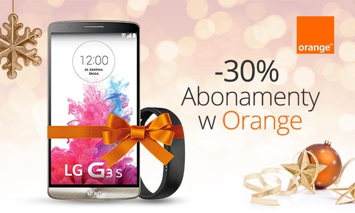 Orange Polska: 19 zł za groupon obniżający abonament o 30% przez 24 miesiące w Orange – kupony do zrealizowania w dniach 7-31.12