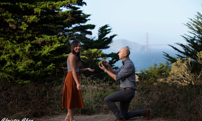 Christie Chen Photography - San Francisco: 90-Minute Engagement Photo Shoot with Retouched Digital Images from Christie Chen Photography (62% Off)