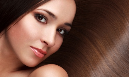 Keratin Treatment or Cut, Color, and Condition Package at Exhale Salon & Spa (Up to 58% Off)