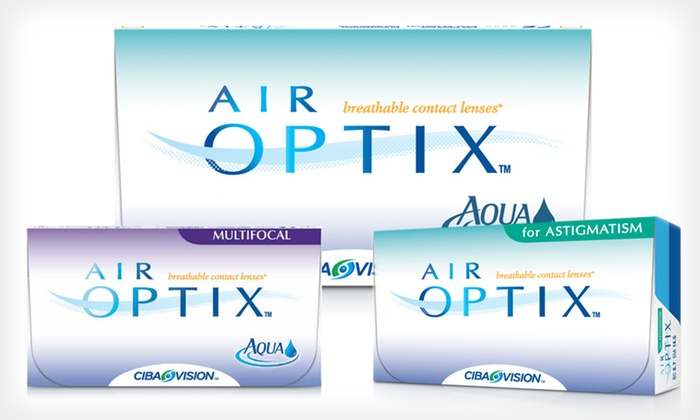 Air Optix Contact Lenses: Six-Month Supply of Air Optix Contact Lenses from PostalContacts.com (Up to 41% Off). Three Options Available.