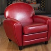 Hayley Ruby Red Bonded Leather Club Chair