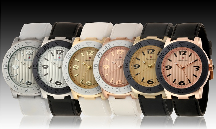 Bernoulli Women's Jordan Silicone-Band Watches: Bernoulli Women's Jordan Silicone-Band Watches. Multiple Options Available. Free Returns.