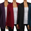 Women's Plus Size Draped Hacci Cardigans (3-Pack)