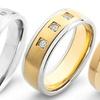 1/10 or 1/20 CTTW Men's Diamond Rings in Titanium