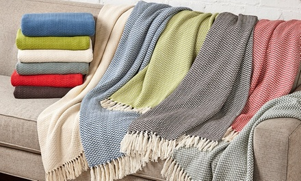 Wexley Home 100% Cotton Chevron Throws (2-Pack)