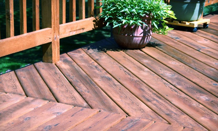 Ryan Hays Construction - Southeast Boise: 100, 250, or 400 Square Feet of Deck Pressure Washing with Staining or Sealing from Ryan Hays Construction (Up to 57% Off)