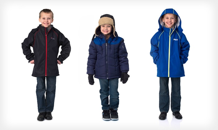 Fila Boys' Outerwear: $21 for Fila Boys' Softshell or Puffer Jacket (Up to $99.99 List Price). 21 Options Available. Free Shipping.