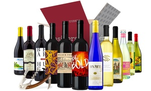 Wine Insiders: 6 or 12 Bottles of Red, White, or Mixed Wine with a Waiter's Corkscrew from Wine Insiders (Up to 80% Off)