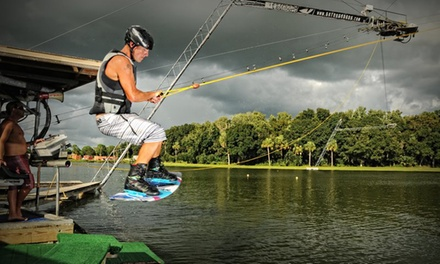 Two- or Four-Hour Cable Pass with Basic Equipment Rental for One or Two at Revolution Cable Park (Up to 52% Off)