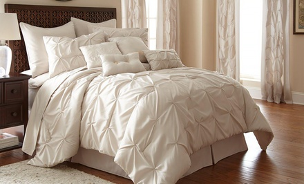 24-Piece Bedroom Decorating Set with Bedding and Window Treatments