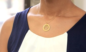 Monogram Online Heart Pendants In Silver Or Gold Over Silver Available From $34.99—$39.99