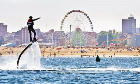 Sesión de 30 minutos de flyboard con paseo en barco para una o dos personas desde 49,95 € en Asturias Náutica