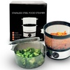 Two-Tier Stainless Steel Food Steamer