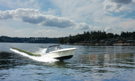 $30 for Boat Rental with Seating for Five from Granville Island Boat Rentals (Up to $65 Value)