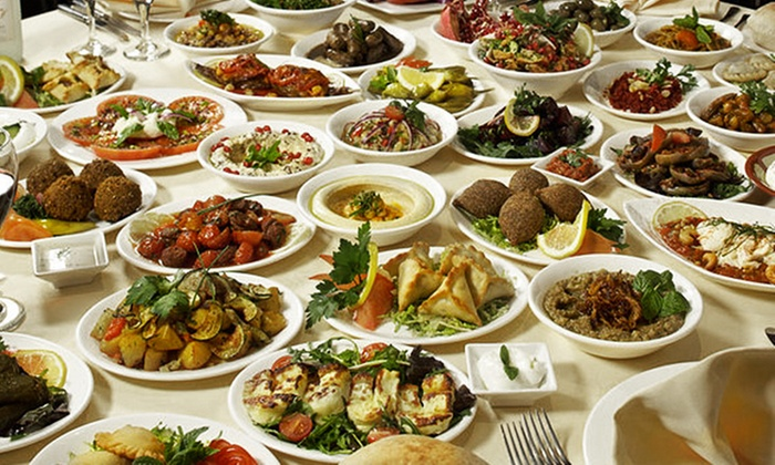 Byblos Cafe - Palma Ceia: $29 for Lebanese Mezah (seven different appetizers) for Two with Drinks at Byblos Cafe ($49.95 Value)