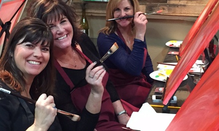 Up to 46% Off Painting Class with Wine  at Reno Art Bar