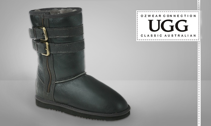 be259bd3c9e $64 Black UGG Short Biker Boots, Includes Nationwide Delivery