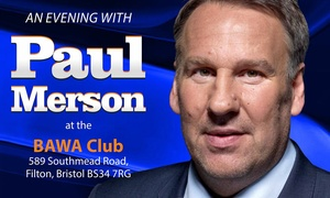 Black Dog Events: An Evening with Paul Merson: VIP Ticket with Buffet, 15 April at The BAWA Club, Bristol (Up to 42% Off)