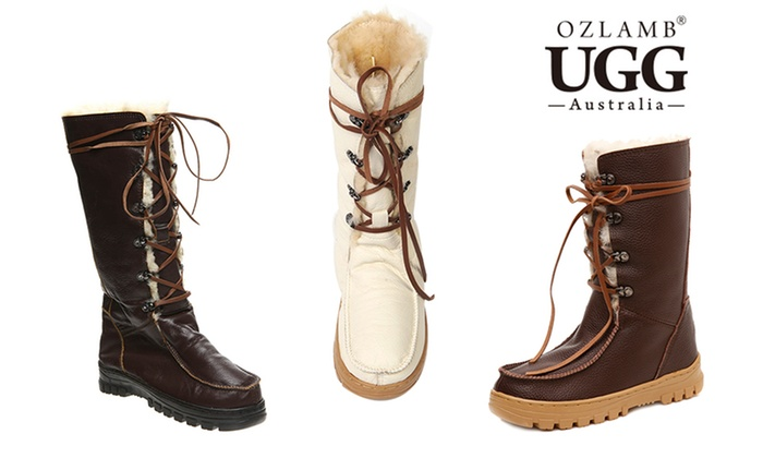 Ozlamb Leather Mid UGG Boots ...